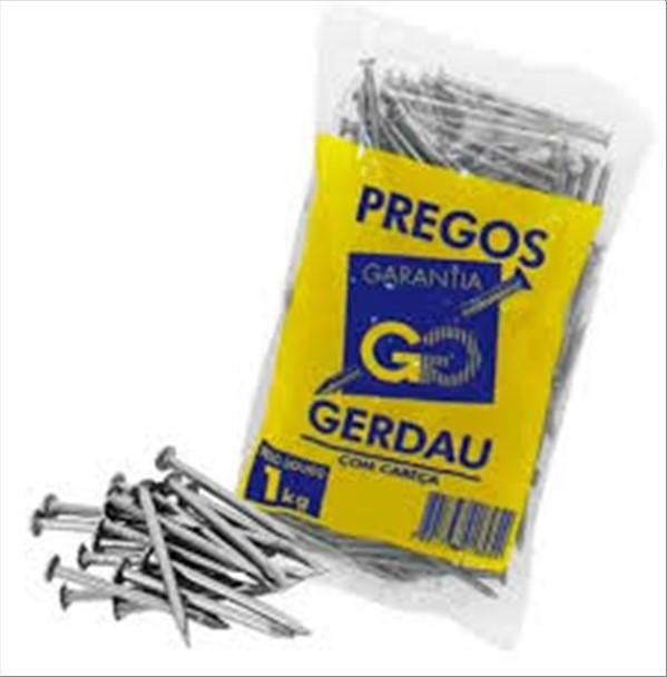 PREGO GERDAU 17 X 21 S/C GALV 1KG