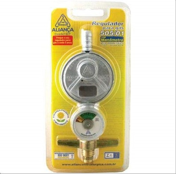 REGULADOR ALIANCA 505/01 GAS C/MANOM.