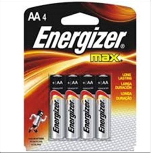 PILHA EVEREADY ENERGIZER MAX AA C/4