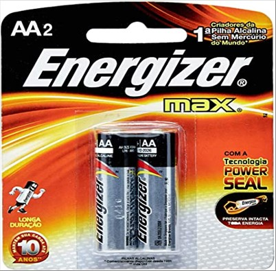 PILHA EVEREADY ENERGIZER MAX AA C/2