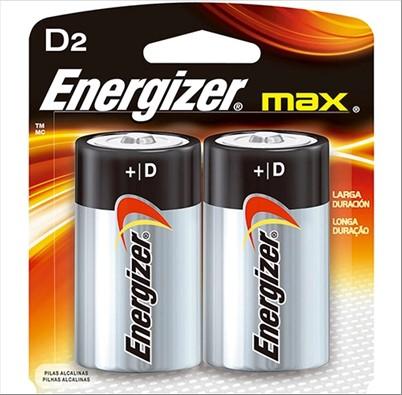 PILHA EVEREADY ENERGIZER MAX D C/2