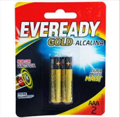 PILHA EVEREADY ALC GOLD AAA C/2