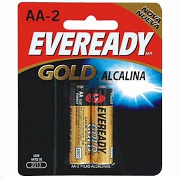 PILHA EVEREADY ALC GOLD AA C/2