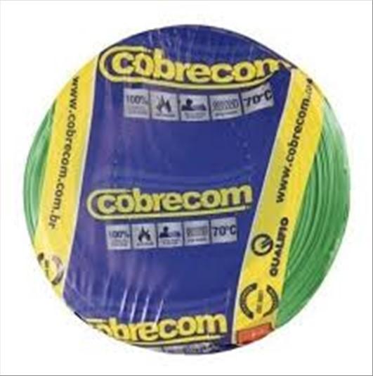 FIO COBRECOM CABO FLEXIVEL   1.5MM ROLO 100M VD