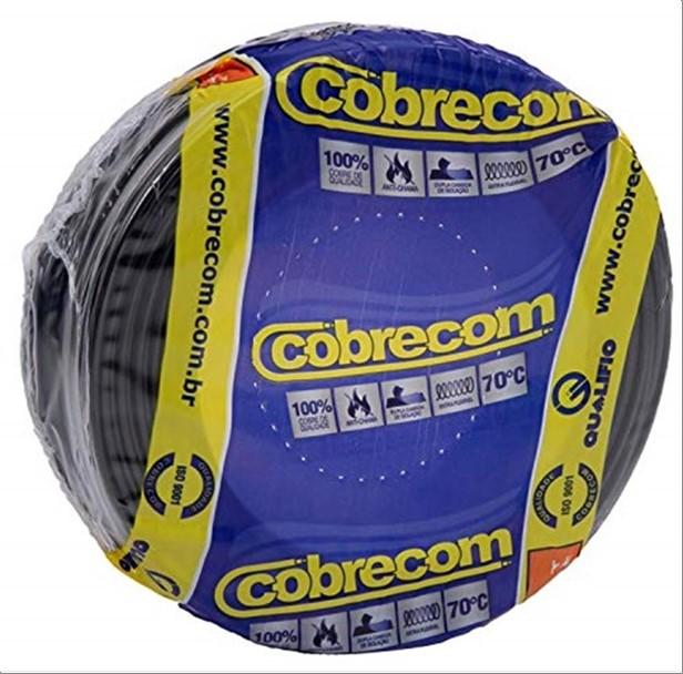 FIO COBRECOM CABO FLEXIVEL   6.0MM ROLO 100M PT