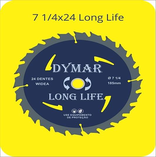 SERRA DYMAR CIRCULAR WIDIA 71/4X24D LONG LIFE