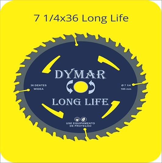 SERRA DYMAR CIRCULAR WIDIA 7 1/4X36D LONG LIFE