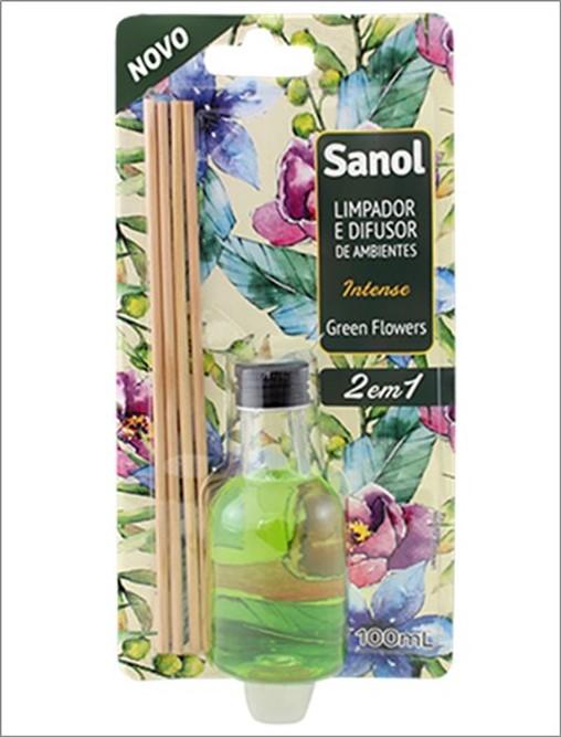 DIFUSOR SANOL AMBIENTES 100ML GREEN FLOWERS