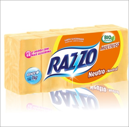 SABAO RAZZO BARRA GLIC. NEUTRO 200G C/ 5