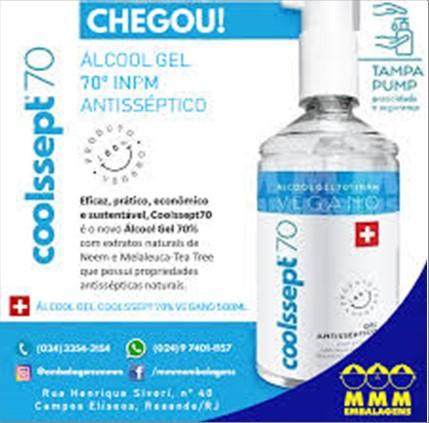ALCOOL COOLSSEPT GEL 70 INPM 500ML