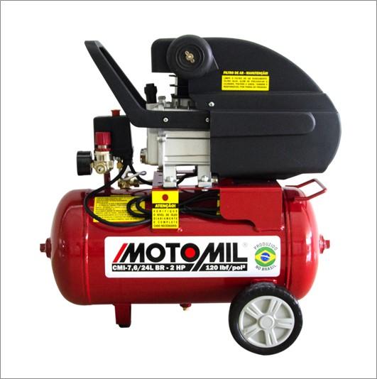COMPRESSOR MOTOMIL CMI-7,6/24 MONO 2HP 120LBS 127V