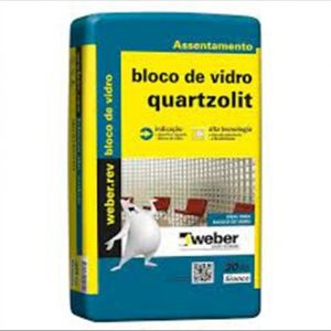 Argamassa Quartzolit Bloco De Vidro 20Kg